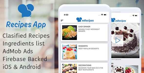 Recipe App - Complete React Native App  for recipes - CodeCanyon Item for Sale