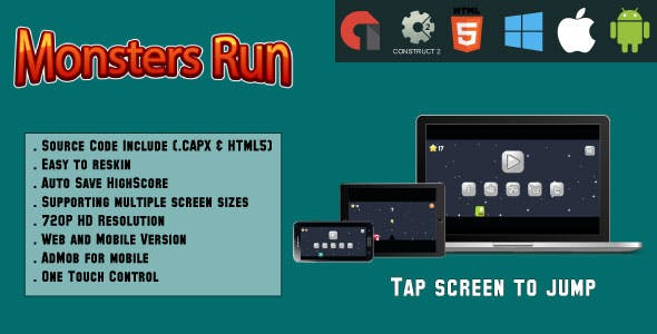 Monsters Run Adventure - (capx & HTML5)