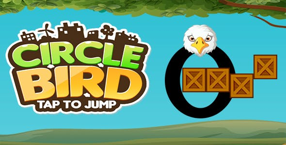 Circle Bird Jump - Endless Game Play
