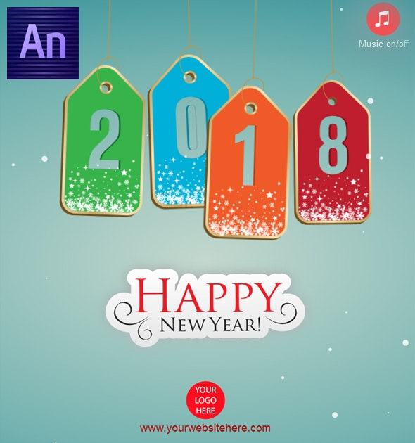 Happy New Year 2018 Tag Style - CodeCanyon Item for Sale