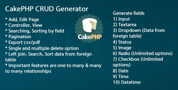 CakePHP CRUD Generator