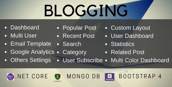 Dotnet Core MVC Blog With MongoDB