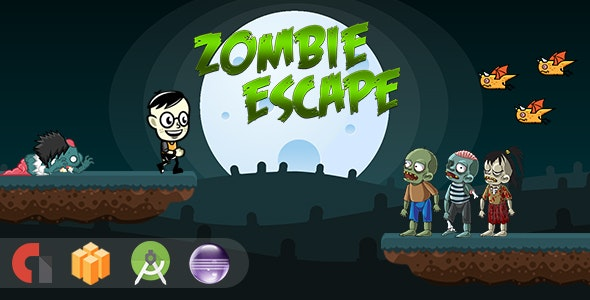 Zombie Escape - Android Studio + Eclipse + Buildbox Template - CodeCanyon Item for Sale