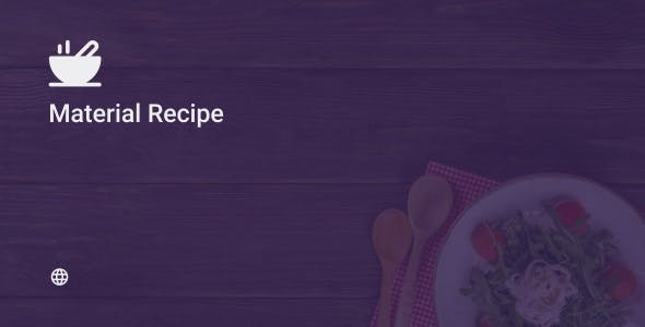 Material Recipe Web 1.0