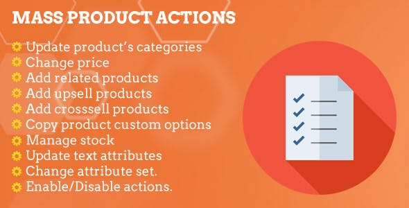 Magento 2 Mass Product Actions