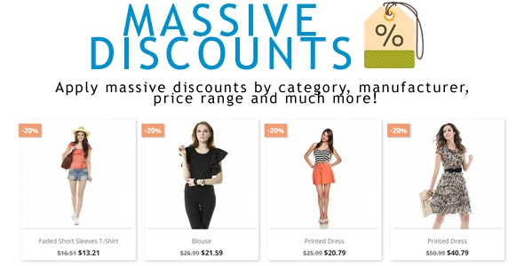 Prestashop Massive Discounts - CodeCanyon Item for Sale