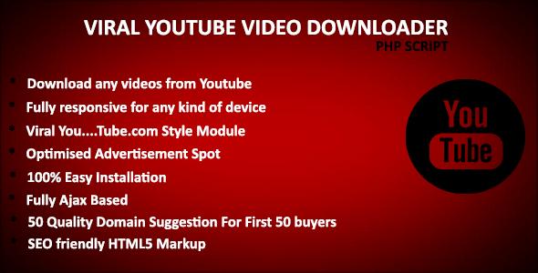 YouTube Downloader PHP Script Plugins, Code & Script