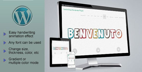 Responsive SVG Handwritting Text Animation - Wordpress Plugin
