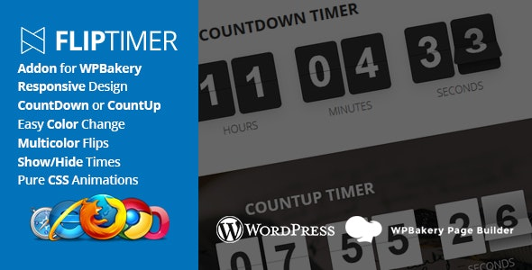 FlipTimer - Addon for WPBakery Page Builder - CodeCanyon Item for Sale