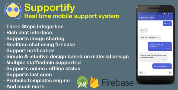 Supportify | Real time android mobile support system with dashboard - CodeCanyon Item for Sale