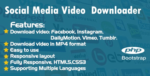 Social media video downloader - Facebook, Instagram, DailyMotion, Vimeo, Tumblr