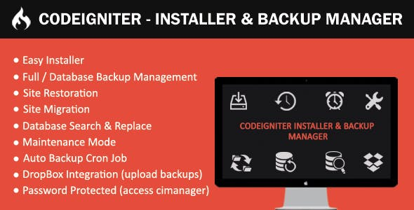 CodeIgniter - Installer & Backup Manager
