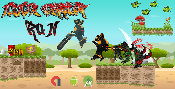 Ninja Warrior Run With Admob Banner & Interstitial (Android Studio)