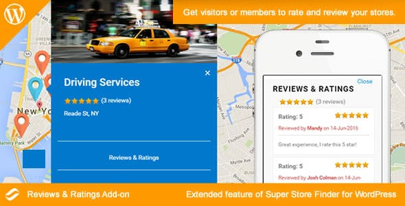 Social Store Locator - Reviews & Ratings Add-on