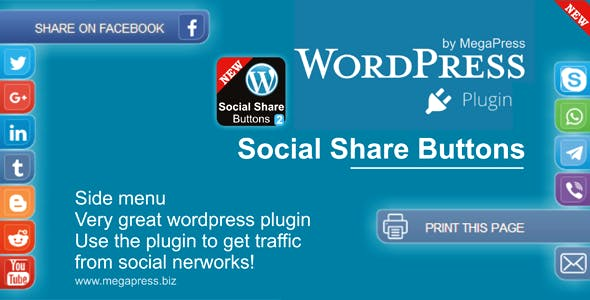 Social Share Buttons for WordPress