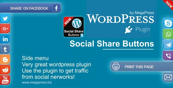 Social Share Buttons for WordPress - CodeCanyon Item for Sale