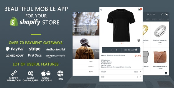 MobileFront Shopify Mobile App by MobileFront   CodeCanyon