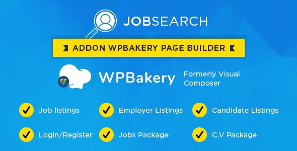Wp JobSearch Plugin Short-codes Addon For Wp Bakery Page Builder Plugin - CodeCanyon Item for Sale