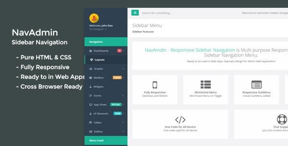 NavAmdin - Responsive Sidebar Navigation - CodeCanyon Item for Sale
