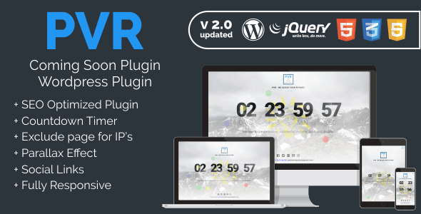 PVR - Coming Soon Plugin - CodeCanyon Item for Sale