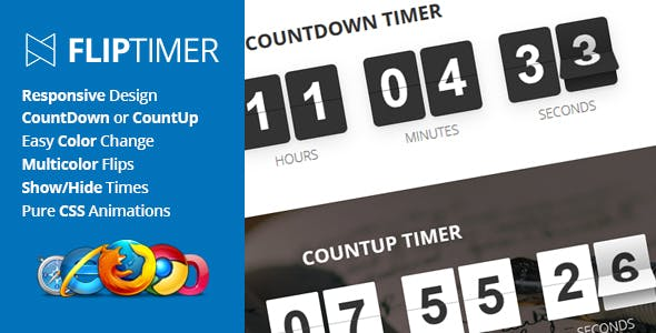 JavaScript & jQuery Countdown Timers from CodeCanyon