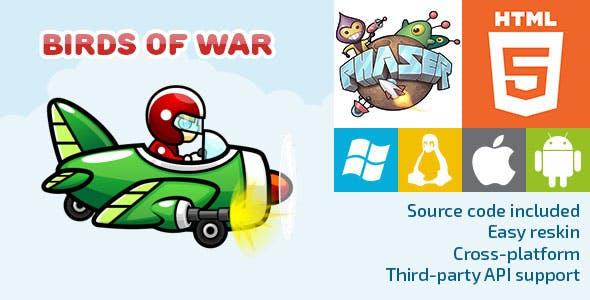 Birds of War - HTML5 Game - Phaser