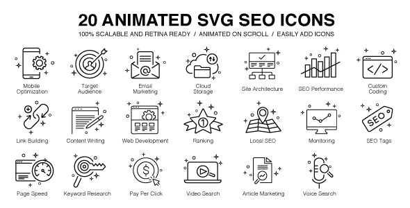 20 Animated SVG SEO Icons - CodeCanyon Item for Sale