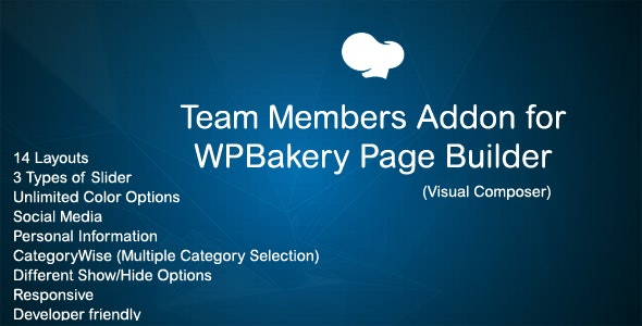 JAG Team Member Addon for WPBakery Page Builder (Visual Composer) - CodeCanyon Item for Sale