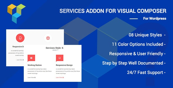 Services Addons for Visual Composer Page Builder - CodeCanyon Item for Sale