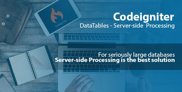 Codeigniter Datatables Server-side Processing + User CRUD by