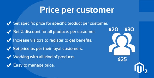Price Per Customer Magento 2 Extension - CodeCanyon Item for Sale