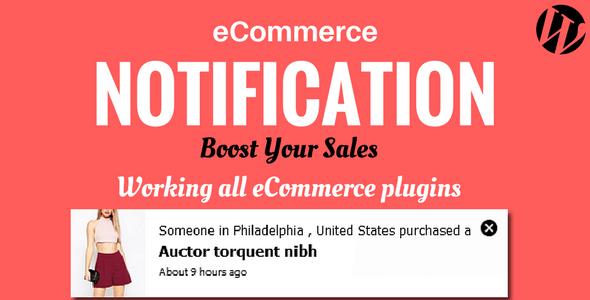 WordPress  eCommerce Notification - CodeCanyon Item for Sale