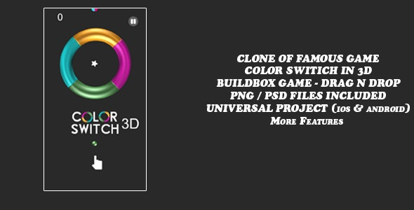 Color Switch in 3D Mode- Buildbox - CodeCanyon Item for Sale