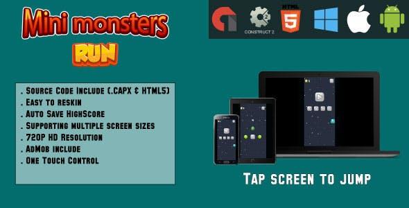 Mini Monster Run - (HTML5 and MOBILE)