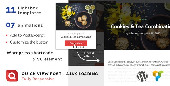 Quick View - Lightbox for WordPress post - CodeCanyon Item for Sale