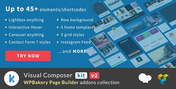 VCKit - WPBakery Page Builder addons collection (formely Visual Composer)        Nulled