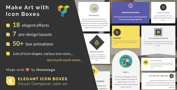 Elegant Icon Box | WPBakery Page Builder Add-on - CodeCanyon Item for Sale