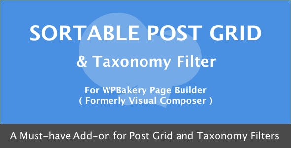 Visual Composer - Sortable Grid & Taxonomy filter        Nulled