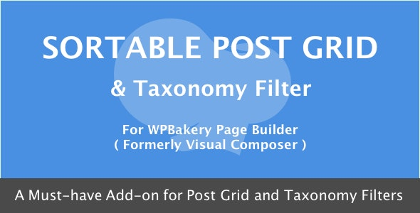 WPBakery Page Builder - Sortable Grid & Taxonomy filter - CodeCanyon Item for Sale