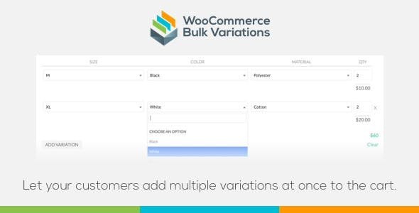 WooCommerce Bulk Variations