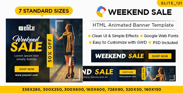 E-Commerce Banners - HTML5 (Elite-CC121) - CodeCanyon Item for Sale