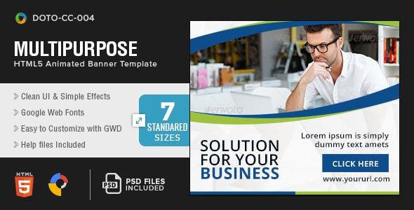 Multi Purpose HTML5 Banners - 7 Sizes