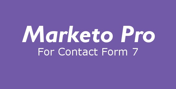 Marketo Pro for Contact Form 7 - CodeCanyon Item for Sale