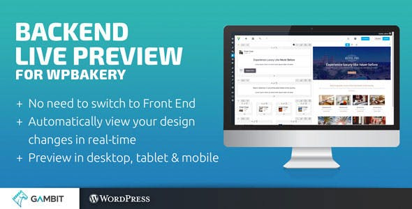 Backend Live Preview for WPBakery Page Builder (formerly Visual Composer)