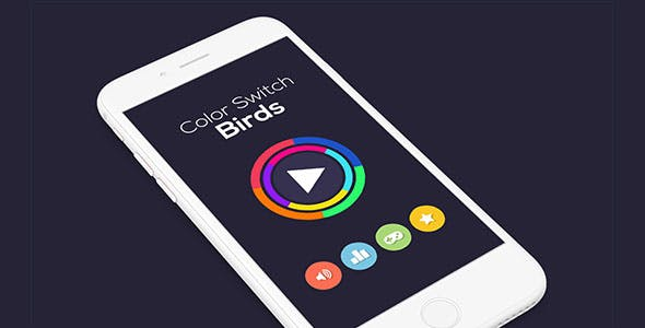 COLOR SWITCH BIRDS WITH ADMOB - ANDROID STUDIO & ECLIPSE FILE