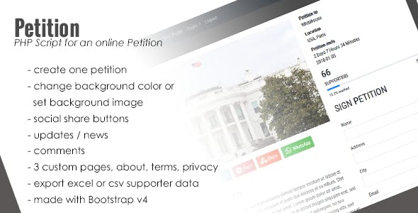 PHP Petition Script