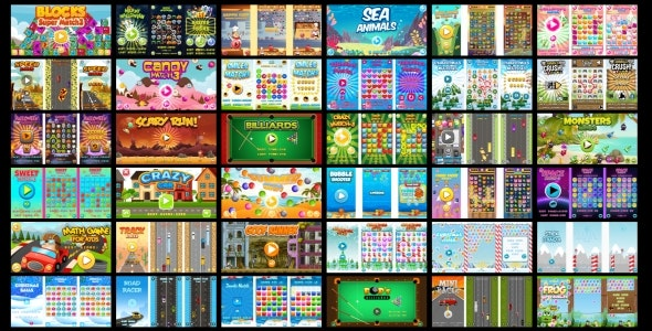 36 HTML5 GAMES IN 1 SUPER BUNDLE!!! (Construct 3 | Construct 2 | Capx) - CodeCanyon Item for Sale