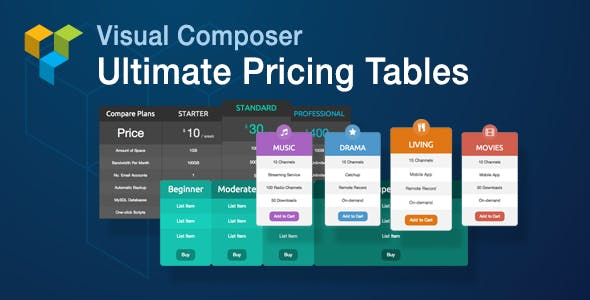 Visual Composer Ultimate Pricing Tables Add-on        Nulled