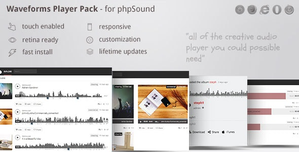 phpSound - players pack theme - including wave player zoomsounds - CodeCanyon Item for Sale