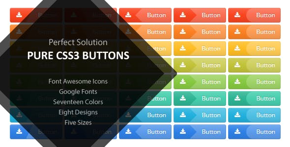 Perfect Solution Pure CSS3 Buttons